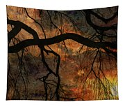 Weeping Willow Sunset Tapestry