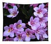 Weigela Blossoms Tapestry