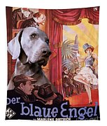 Weimaraner Art Canvas Print - Der Blaue Engel Movie Poster Tapestry