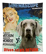 Weimaraner Art Canvas Print - River Of No Return Movie Poster Tapestry