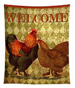 Welcome Rooster-61412 Tapestry