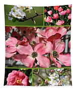 Welcome Spring Collage Tapestry