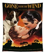 Welsh Corgi Cardigan Art Canvas Print - Gone With The Wind Movie Poster Tapestry