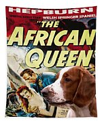 Welsh Springer Spaniel Art Canvas Print - The African Queen Movie Poster Tapestry