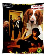 Welsh Springer Spaniel Art Canvas Print - Pulp Fiction Movie Poster Tapestry