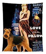 Welsh Terrier Art Canvas Print - Love On A Pillow Movie Poster Tapestry