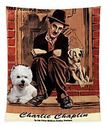 West Highland White Terrier Art Canvas Print - A Dogs Life Movie Poster Tapestry