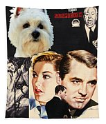 West Highland White Terrier Art Canvas Print - Suspicion Movie Poster Tapestry