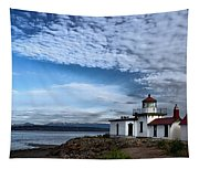 West Point Lighthouse II Tapestry