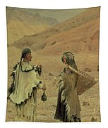 West Tibetans, 1875 Oil On Canvas Tapestry