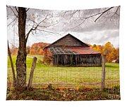 West Virginia Barn In Fall Tapestry