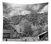 West Virginia Barns Monochrome Tapestry
