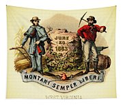 West Virginia Coat Of Arms - 1876 Tapestry