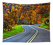 West Virginia Curves Painted Tapestry