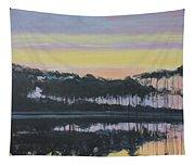 Western Lake Sunrise Tapestry