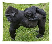 Western Lowland Gorilla 2 Tapestry