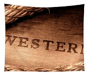 Western Stamp Branding Tapestry