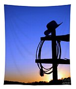 Western Sunset Tapestry by Olivier Le Queinec