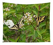 Western Tiger Swallowtail Butterflies Tapestry