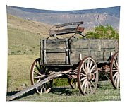 Western Wagon Tapestry
