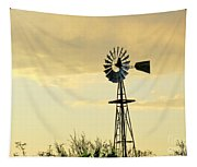 Western Windmill Tapestry