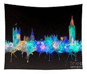 Westminster And Big Ben - Nighttime 1 Tapestry