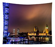 Westminster And Eye Night Glow Tapestry