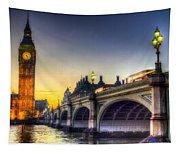 Westminster Bridge And Big Ben Tapestry