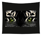 Wet Eye Of A Tiger Tapestry