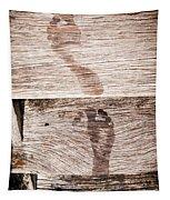 Wet Feet Prints Tapestry