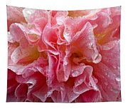 Wet Hollyhock Flower Upclose Tapestry
