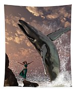 Whale Watcher Tapestry