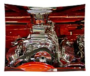 What Is Under The Hood-red Customized Retro Pontiac Tapestry
