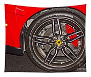 Wheel Of A Ferrari Tapestry