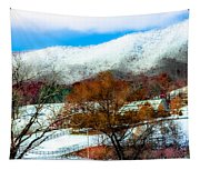 When Winter Blankets Autumn Tapestry
