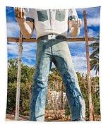 Whered It Go Muffler Man Statue Tapestry
