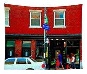 Wheres The Beef On Rue Notre Dame Joe Beef Resto Montreal Urban  Art Scene Carole Spandau Tapestry