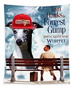 Whippet Art - Forrest Gump Movie Poster Tapestry