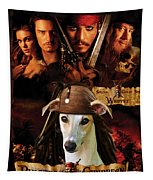 Whippet Art - Pirates Of The Caribbean The Curse Of The Black Pearl Movie Poster Tapestry