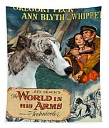 Whippet Art - The World In His Arms Movie Poster Tapestry