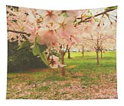 Whispering Cherry Blossoms Tapestry