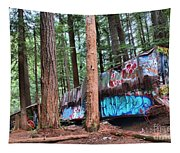 Whistler Train Wreckage In The Trees Tapestry