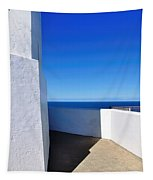 White And Blue To Ocean View Tapestry