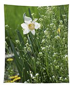 White And Yellow Daffodil Tapestry