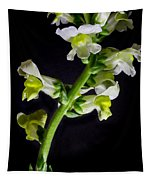 White And Yellow Snapdragons Tapestry
