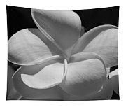 White Bloom B W Tapestry