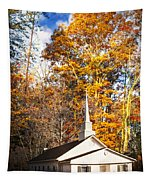 White Church In Autumn Tapestry