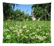 White Clover Field And The Playground Tapestry