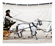 White Coach Horses Tapestry