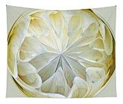 White Dahlia Orb Tapestry
